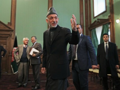 KARZAI TO U.S.: NEGOTIATE PEACE WITH TALIBAN OR LEAVE