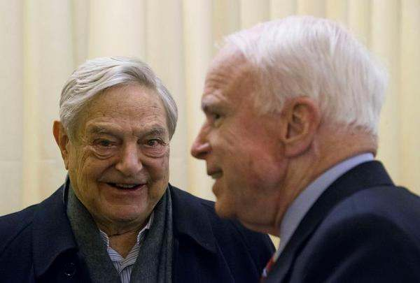 BREAKING… MCCAIN AND SOROS IN BED TOGETHER.