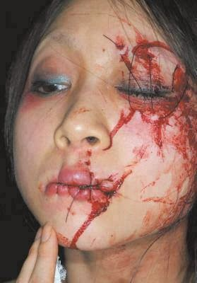 SAVAGE MUSLIMS SEW MOUTH AND EYE SHUT WHO PROFESSED 'JESUS AS HER SAVIOR'! (GRAPHIC)