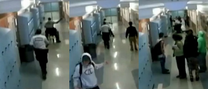 SECURITY GUARD VICIOUSLY BEATS WHEELCHAIR-BOUND STUDENT, DUMPS HIM ON THE FLOOR!