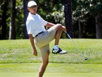 AS THE WORLD SPIRALS OUT OF CONTROL, OBAMA GOLFS!