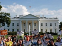 ILLEGAL ALIENS PROTEST AT WHITE HOUSE-NO FEAR OF ARREST!