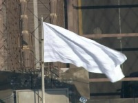 MYSTERIOUS WHITE FLAGS FLYING ON BROOKLYN BRIDGE!