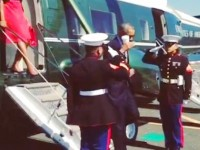 'SEMPER LATTE'- OBAMA SALUTES MARINES WITH COFFEE IN HAND!