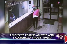 [WATCH!] IDIOT SHOOTS HIMSELF DURING ROBBERY-FLAGS DOWN COPS FOR HELP!