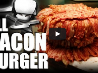 HELL YEAH! Here's The World's Most MASSIVE All BACON Burger EVER! (VIDEO)