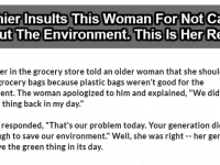 Cashier Insults Woman For Not 'Going Green'- Her Reply Is EPIC!