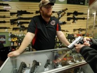 At an area gun shop. (Photo by Jim Young/Reuters)