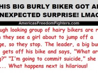 This Big Burly Biker Sees A Girl Ready To Jump Off A Bridge… What Happens Next Is GOLDEN
