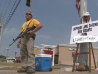 Patriot Stands Guard Outside Of Recruiting Station… Offended Muslims Call FBI
