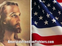 Jesus and American Flag / Dean James Americas Freedom Fighters