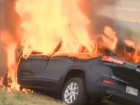 Man Pulled From Burning Car, What Police Found In Wreckage Has People SHOCKED