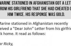 Marine Gets Dumped By Girlfriend While In Afghanistan, His Response Is PURE GOLD…