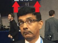Look At What Dinesh D'Souza Caught On A DNC Teleprompter, This Says It All…