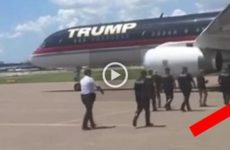 VIDEO: Cops Get Close to Trump's Plane, Get Epic Surprise They'll NEVER Forget…