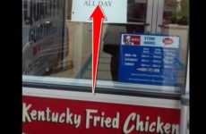 Customers Spot SHOCKING Sign On KFC Restaurant's Window, BLM Thugs Are FURIOUS