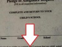 Liberal School Demands Mom Sign ANTI 'Pledge Of Allegiance Form', She Does THIS Instead…