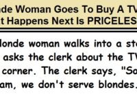 Blonde Woman Goes To Buy A TV, What Happens Next Is HILARIOUS!
