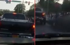 WATCH AS Country Boys Drive Through BLM Protesters, Blast THUGS With a NASTY Surprise Right To The FACE [VID]