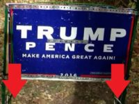 FED UP Marine Vet Takes EXTREME Measures To Protect TRUMP Sign From Liberal SCUMBAGS… [VID]