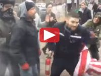 FedEx Driver Spots Liberal Thugs Burning Flags- Gets Out And Takes IMMEDIATE Action- Becomes Overnight Internet STAR