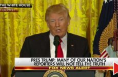 Internet ERUPTS After People See What Trump Did In Middle Of Press Conf.- Did You Catch It? (VIDS)