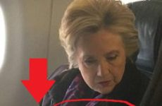 Internet ERUPTS After People See What Clinton Is Doing With Hands On Airplane