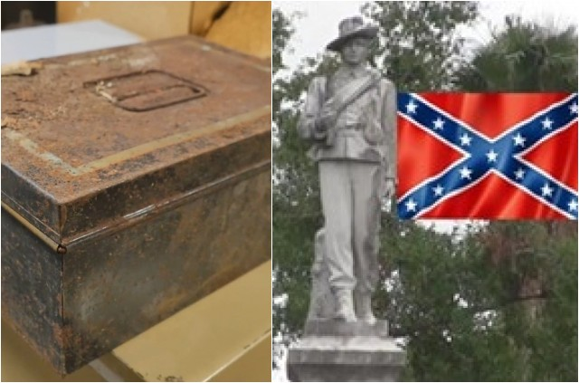 WHOA! 100 Year Old Confederate Time Capsule Found In Florida- LOOK What Was Found In It…