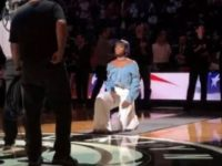 BLM Singer Takes Knee After Performing National Anthem At NBA Game- Watch What Crowd Does IMMEDIATELY After [VID]