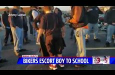 WATCH: 50 BADASS Bikers Send Clear Message To Scumbag Punks Who Bully Little Kids