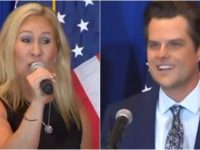 WATCH As Matt Gaetz And Marjorie Taylor Greene, Team Up And Completely TRASH Dems At 'America First Rally' In Florida