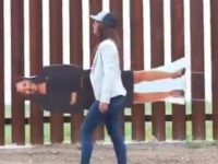 VIDEOS: Republican Rockstar Lauren Boebert Brings Cardboard 'Cut Out' Of Kamala 'BJ' Harris to U.S. Border- Then  She Does THIS With It! {icymi}}