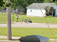 EPIC! Two Patriotic Kids Get Off Their Bikes To Pay Respects While Riding By Military Veteran's Funeral (Heart wrenching PICS And VIDS)