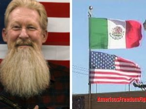 When This Veteran Saw A Mexican Flag Flying Over A U.S. Flag He Takes IMMEDIATE Action... (Video)